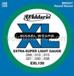 EXL130 D'Addario Electric Guitar Strings - Extra Super Light 8-38