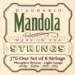 J76 D'Addario Mandola Strings - Phosphor Bronze 15-52