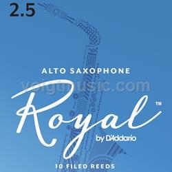 Saxophone (Alto) Reeds - Royal - 2.5 - Box of 10