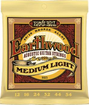 EB2003 Ernie Ball Earthwood Acoustic Guitar Strings - Medium Light 12-54