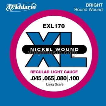 D'Addario EXL170 Bass Guitar Strings - Long 45-100