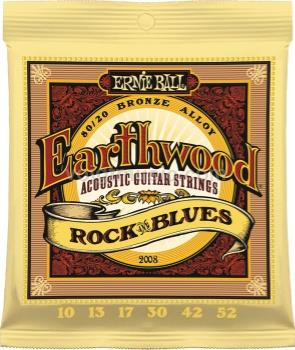 EB2008 Ernie Ball Earthwood Acoustic Guitar Strings - Rock & Blues 10-52