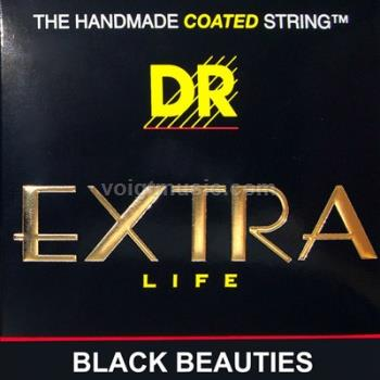 DR BKA EXR Black Coated Acoustic Phosphor Bronze Guitar Strings on Hexagonal Core