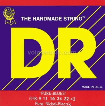 DR PHR9 Pure Blues Nickel Light Electric Guitar Strings 9-42