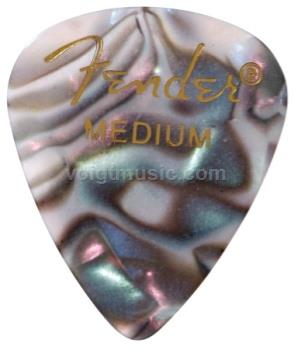 Fender 12351TA Thin Celluloid Picks - Abalone Moto - Pack of 12