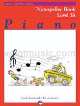 Alfred's Basic Piano Course: Notespeller Book 1A