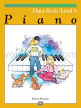 Alfred's Basic Piano Course - Duet Book - 3