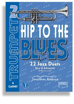 Hip to the Blues Jazz Duets w/ CD - Trumpet Book 2