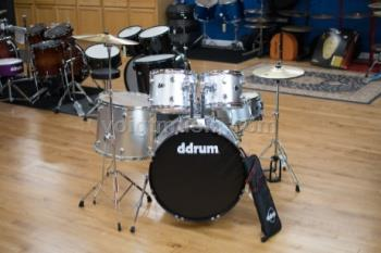 ddrum D2BS D2 5-Piece Complete Drum Set - Brushed Silver